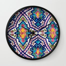 Golestan Palace tile 97 Wall Clock