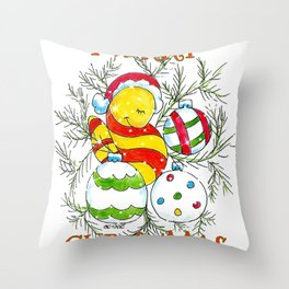 """""""Merry Christmas Ornaments"""" Throw Pillow"""