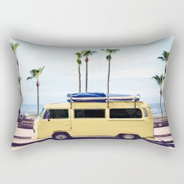 Surfer's Yellow Van Rectangular Pillow