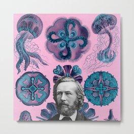 Trippy Haeckel Vibes Under the Sea Metal Print