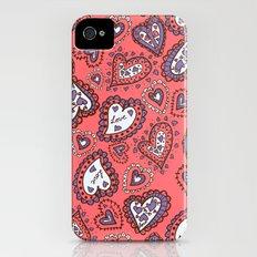 Love & heart iPhone (4, 4s) Slim Case