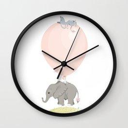 Little flying elephant Wall Clock
