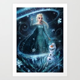 Wanna build a snowman? Art Print