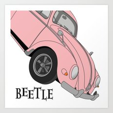 Beetle with Happiness Art Print
