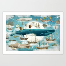 Ocean Meets Sky - option Art Print