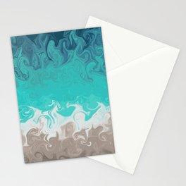 Swirly Sea Shore Stationery Cards