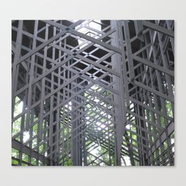 Wooden structure Canvas Print