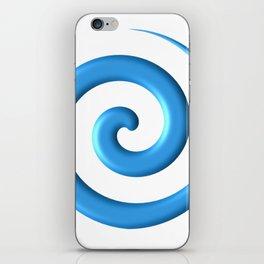 Blue Spiral iPhone Skin