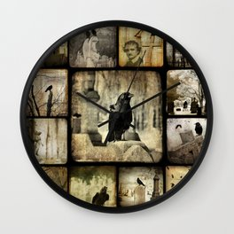 Gothic Squares Wall Clock