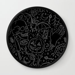 Halloween Horrors Wall Clock