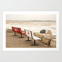 Canadian Benches Art Print