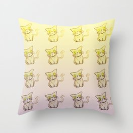 Smelly Cat Gradient Throw Pillow