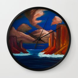 A Valley of Water Wall Clock