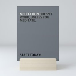 Mediation doesn't work Mini Art Print