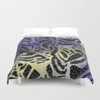 safari Duvet Covers featuring Safari by Vikki Salmela