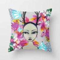 Fawn Woodland Gal Throw Pillow