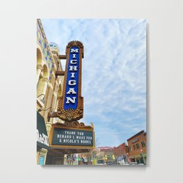 Michigan Theater Metal Print