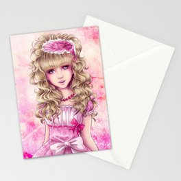 Demoiselle Rose Stationery Cards