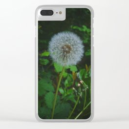 Dandelion Magic Clear iPhone Case