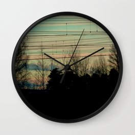 Candy Sky Wall Clock