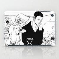 taurus iPad Cases featuring Taurus by Cassandra Jean