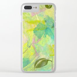 Leafy Breeze Clear iPhone Case