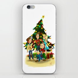 Family Christmas iPhone Skin