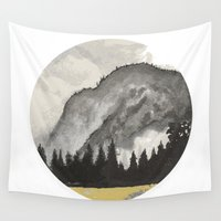 yosemite Wall Tapestries featuring Yosemite Mist by Geryes