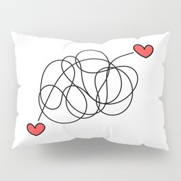 Hearts found each other (no text) Pillow Sham
