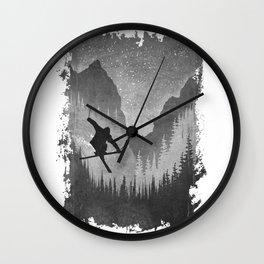 Mountains Ride Wall Clock