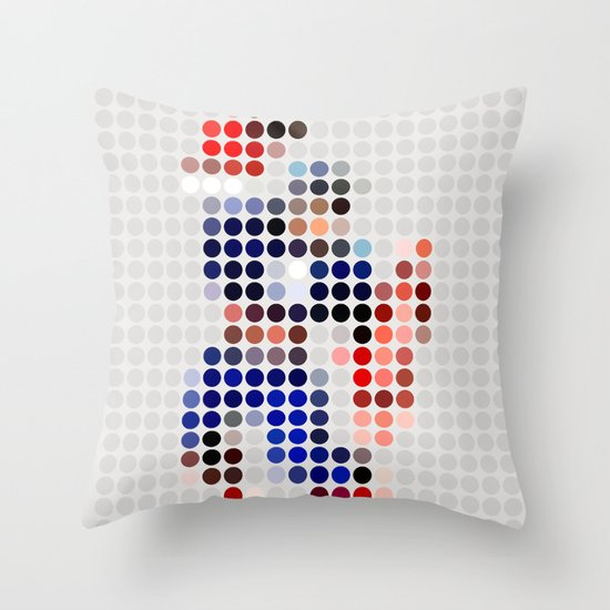 Mr A Throw Pillow