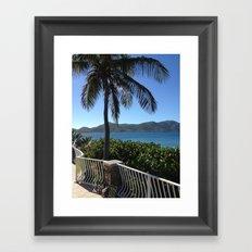 Palm, Porch, St. John, USVI Framed Art Print