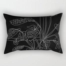 Black and White Bird of Paradise Rectangular Pillow
