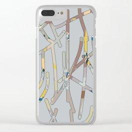 Modern Tic Tac Toe Clear iPhone Case