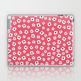 Coral White Spring Flower Pattern Laptop & iPad Skin