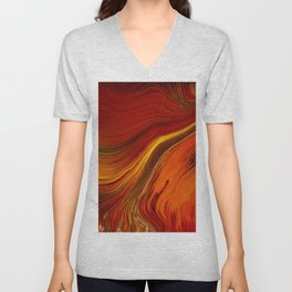 Dragon Fire Unisex V-Neck