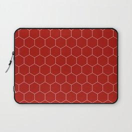 Simple Honeycomb Pattern - Red & White - Mix & Match with Simplicity of Life Laptop Sleeve