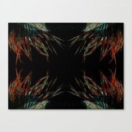Sacred feathers geometry IV Canvas Print