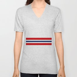 Classic Retro Stripes Akateko Unisex V-Neck