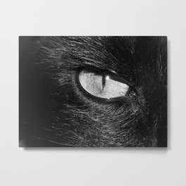 Cats Eye Black and White Metal Print