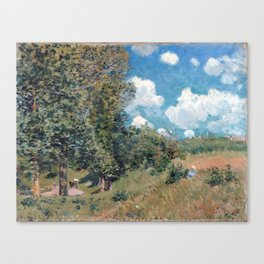 Alfred Sisley The Road from Versailles to Saint-Germain Canvas Print