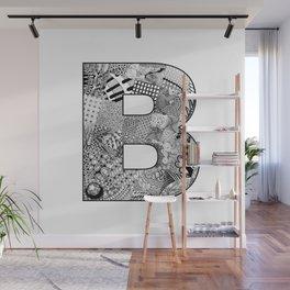 Cutout Letter B Wall Mural