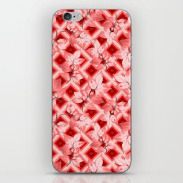 Pink Op Art Autumn iPhone Skin