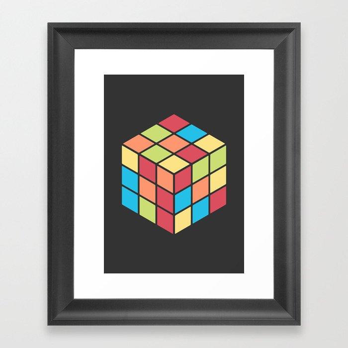 #68 Rubix Cube Framed Art Print by mnmlthing | Society6