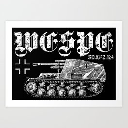 Wespe Art Print