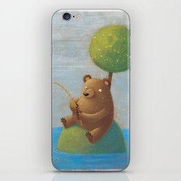 Fisherman Bear iPhone Skin