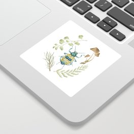 Coleoptera beetle in the Forest Sticker