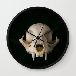 Cat Skull Wall Clock