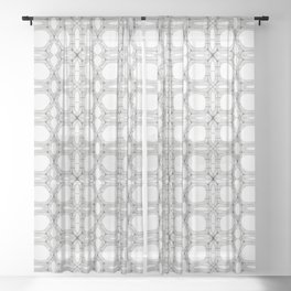 Poplar wood fibre walls electron microscopy pattern Sheer Curtain