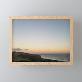 Overlooking Boulder Beach at Dusk Framed Mini Art Print